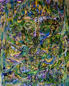 Tentacular Spectacular Painting by Nathaniel Quinn
