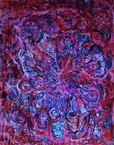Pink Amoeba Vortex Painting by Nathaniel Quinn