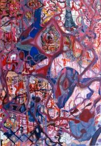 Pink Ballroom Staircase Drip painting by Nathaniel Quinn